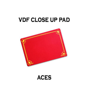 VDF클로즈업패드(ACE그림)-레드(VDF Close Up Pad with Aces - Standard size - Red)